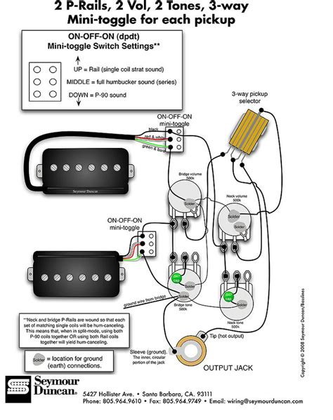 seymour duncan p rails wiring diagram 2 p rails 2 vol