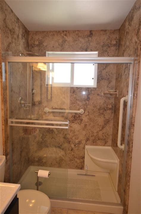 walk in shower remodel in arroyo grande traditional bathroom san luis obispo by new life