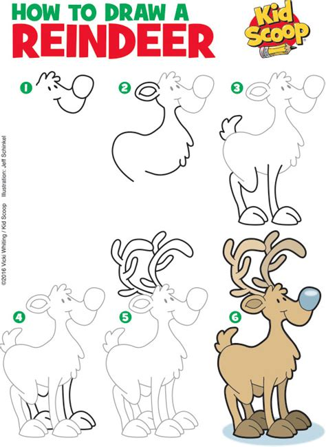 reindeer in here coloring book books how to draw a reindeer 2 kid scoop