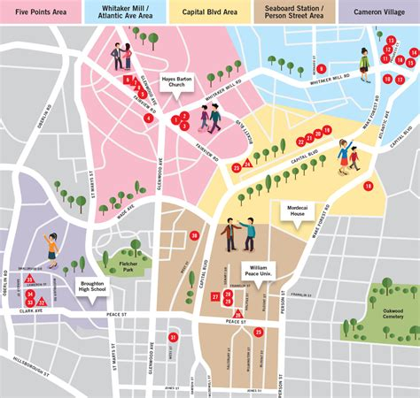 downtown raleigh map raleigh nc shopping map of the design district raleigh