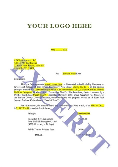 Loan Payoff Request Letter Sle Payoff Letter Template 28 Images Best Photos Of