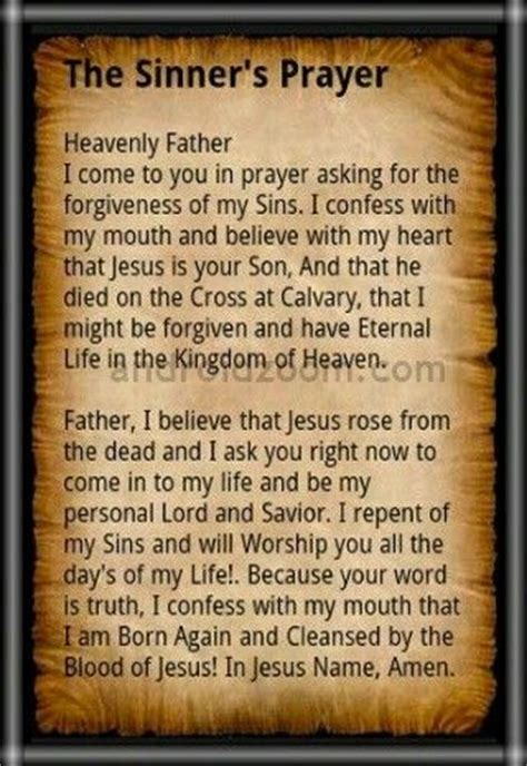 The Sinner Also Search For The Sinner S Prayer Bible