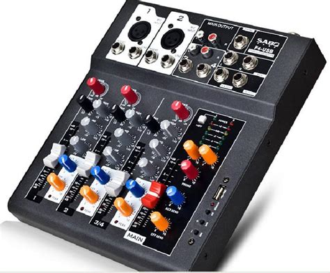 Mixer Audio Cina f4 usb mini audio mixer console with usb built in effect