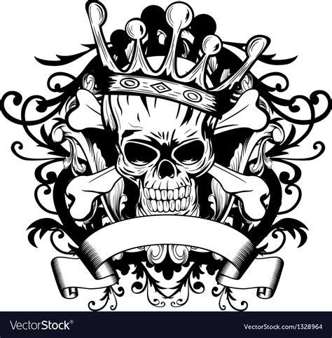 Go With Tarina Tarantios Skull Tiara by Skull With Crown Royalty Free Vector Image Vectorstock