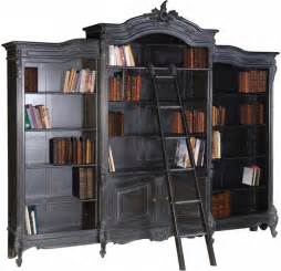 Antique French Bookcase Moulin Noir Bookcase French Boudoir Shabby Chic Black