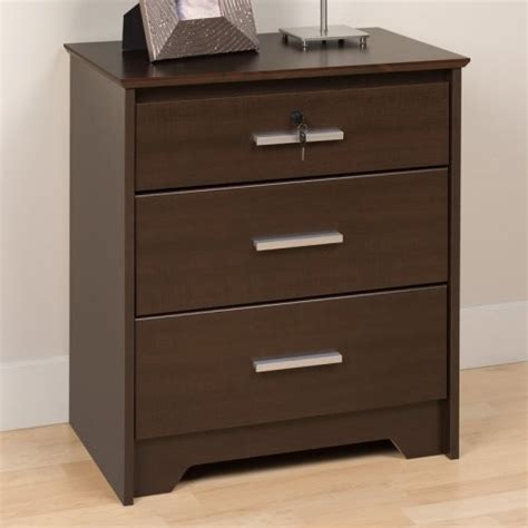 how tall are nightstands coal harbor 3 drawer tall nightstand with lock espresso
