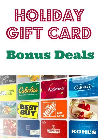 Gift Card Bonus 2014 - holiday gift card bonus deals 2015 debt free spending