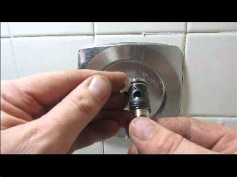 Changed Cartridge Faucet Still Leaks by Moen Cartridge Replacement Shower Faucet Leak Fix