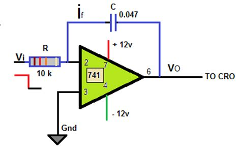 integrator circuit uses integrator circuit using 741 ic