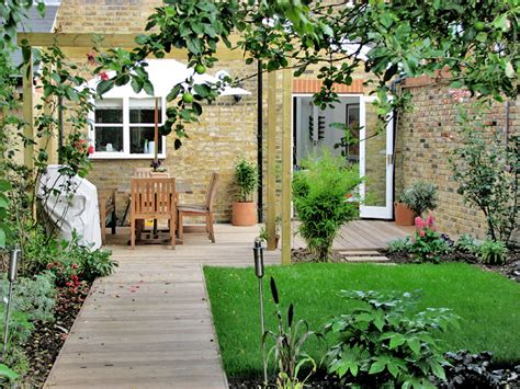 House Backyard Ideas Earthwork Garden Design Garden Projects Terraced House In St Margarets