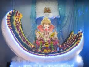 Ganpati Decoration At Home Ganpati Decoration Ideas At Home Ganesh Pooja Decoration