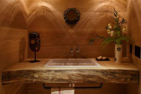 rustikale waschtische stilvolle einrichtung mit exotischer deko altbau bekommt