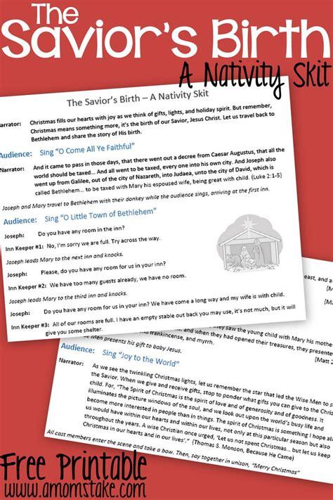 christmas play script jesus kids the savior s birth a nativity skit script with free printable a s take