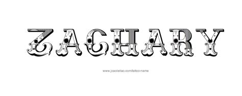 tattoo of name zach tattoo design male name zachary 20 30 png