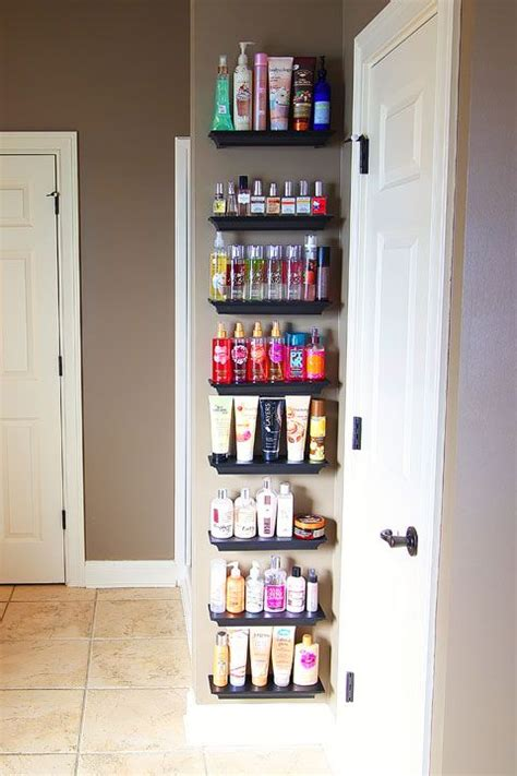 organizing bathroom shelves 17 best ideas about lotion storage on pinterest perfume