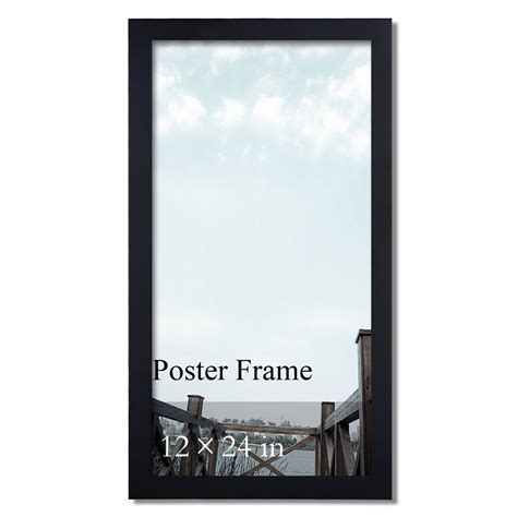 picture frame photo frames wooden wall hanging poster adeco decorative black wood 1 25 quot wide wall hanging poster