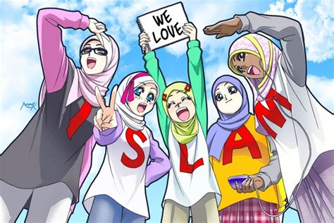 20 gambar kartun islami terbaru