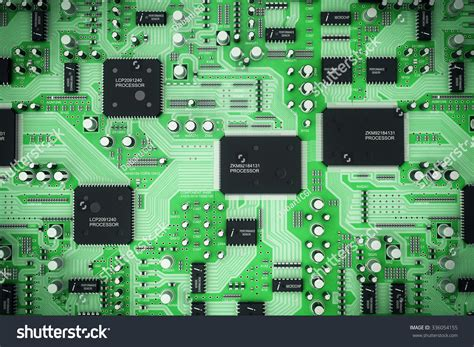 integrated circuit board of integrated circuit board stock photo 336054155