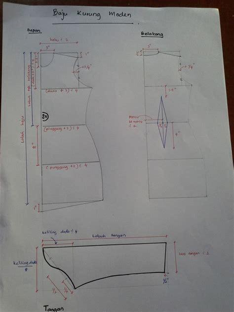 sewing pattern baju kurung florabeadz academy pola kurung moden sewing tutorial