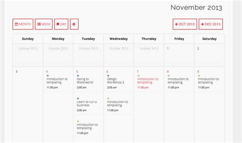Bootstrap Calendar Template by Bootstrap Calendar Template Calendar Template 2017