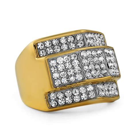 Handmade Gold Rings - custom gold stainless steel hip hop ring stainless steel