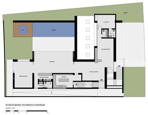 Contemporary Floor Plans galeria de casa sf studio guilherme torres 16