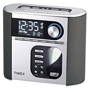 timex t617s nature sounds auto set cd clock radio with smart knob tuning and mp3