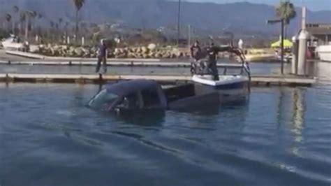 havasu boat r fails truck sinks at boat r video captures california driver