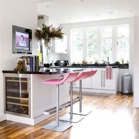 Pink Kitchen Stools by Pink Kitchens
