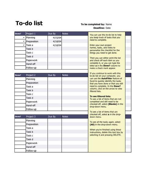 5 checklist templates word excel pdf templates