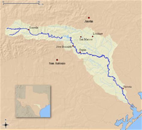 guadalupe river texas map guadalupe river texas