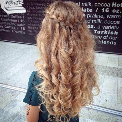 prom hairstyles down curly braid 31 half up half down prom hairstyles braided half updo