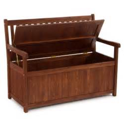 Wood Bench With Storage Outdoor Wooden Bench With Storage Plans