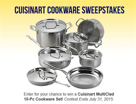 Easy Entry Sweepstakes - cuisinart cookware sweepstakes