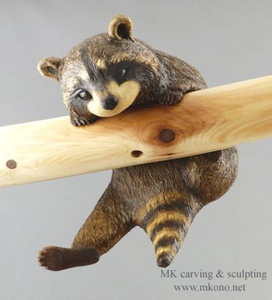 woodworking for wildlife raccoon sculpture search racoons