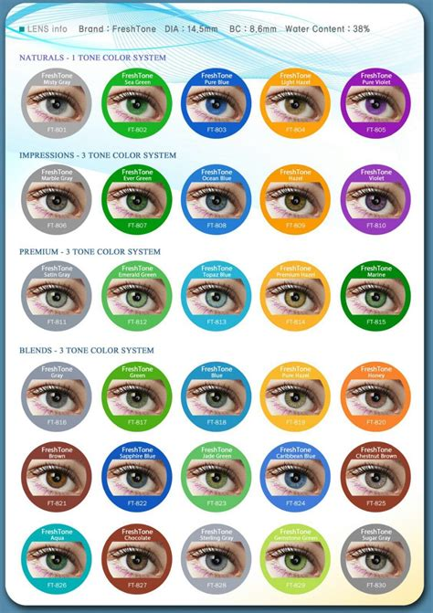 buy color contacts 50 top colors freshtone colored contact lenses for