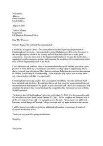 School Admission Recommendation Letter Template How To Write A Recommendation Letter For College Admission