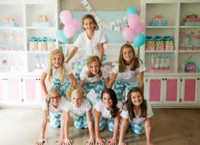 brynne s monogram slumber birthday party for balloon time s party on a dime charity challenge