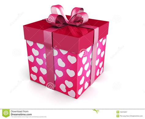 valentines gift box for him day concept gift box stock illustration