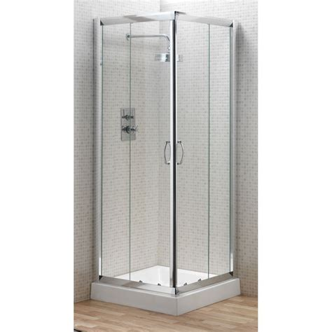 Modern Small Shower Stall With Double Corner Doors Shower Stall Doors