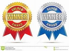 Gold And Silver Awards stock vector. Image of isolated ... Diploma Scroll Vector