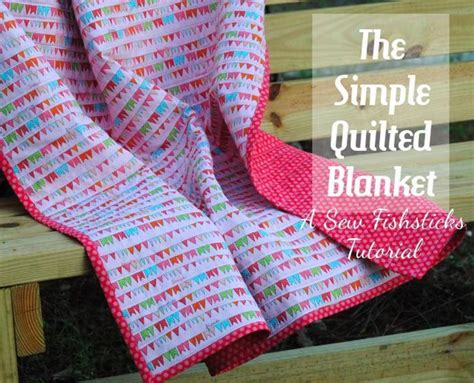 Quilted Blanket Pattern by Free Quilt Pattern Simple Quilted Blanket