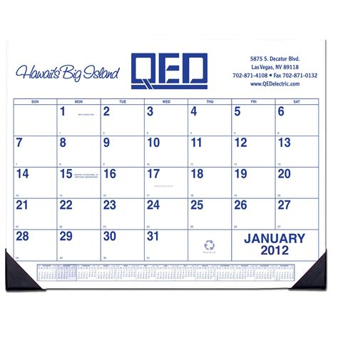 custom desk pad calendar 1 color 11 quot x17 quot china wholesale