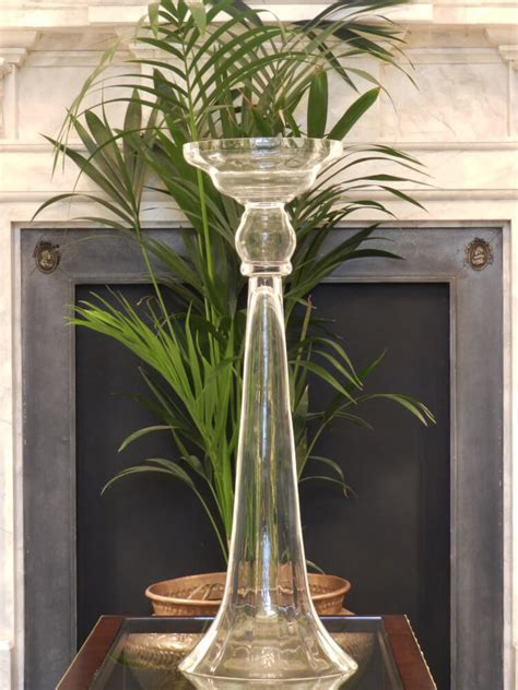fluted trumpet vase wedding day hire