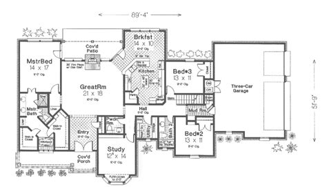 ranch farmhouse floor plans langer country ranch farmhouse plan 036d 0110 house
