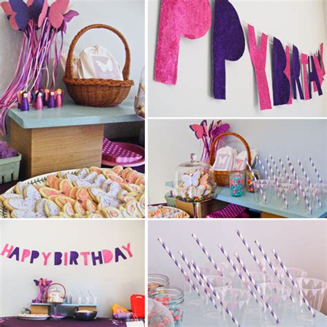Handmade Birthday Decorations Ideas - handmade crafting a butterfly birthday oh my