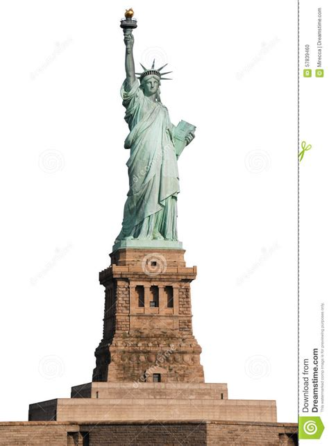 statue of liberty on white background stock photo image