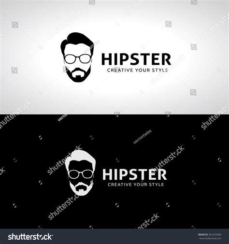 hipster logo geek logo man old school logo template stock