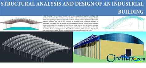 structural layout of industrial building structural analysis and design of industrial building