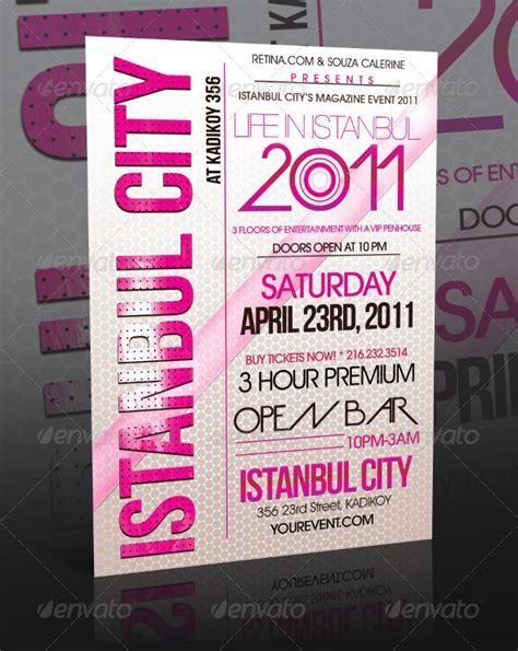 design event flyer istanbul city event flyer template night club fliers